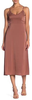 Line & Dot Ali Ruffle Trim Dress