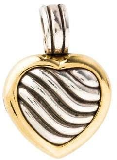 David Yurman Two-Tone Cable Heart Locket Pendant