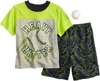 Up Late Boys 4-10 Up-Late Baseball 2-Piece Pajama Set