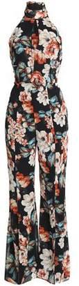 Nicholas Open-Back Floral-Print Silk Crepe De Chine Jumpsuit