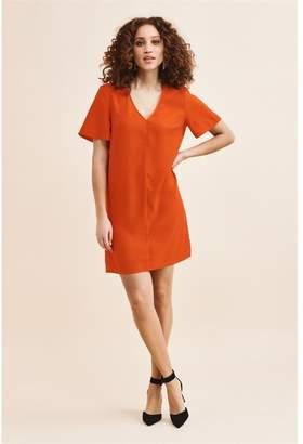 Dynamite Flutter Sleeve T-Shirt Dress - FINAL SALE Starburst Red