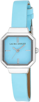 Laura Ashley Womens Blue Petite Case With Matching Colored Sunray Dial Watch La31004Bl $295 thestylecure.com