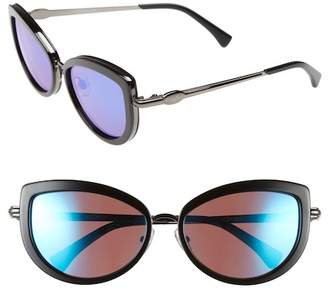 Wildfox Couture Chaton Deluxe Cat Eye 55mm Plastic & Metal Frame Sunglasses