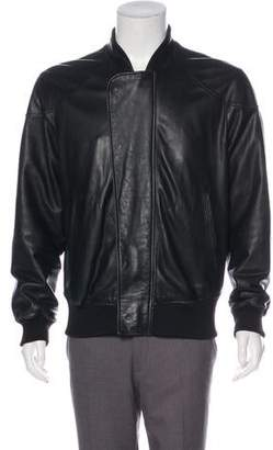 Givenchy Leather Zip-Up Jacket