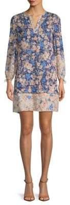 Rebecca Taylor Gigi Floral Silk Shift Dress