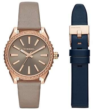 Diesel Women's Analogue Quartz Watch with Leather Strap DZ5563