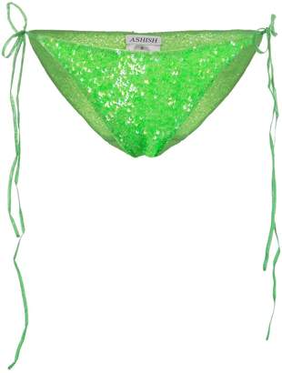 Ashish sequin string bikini bottoms