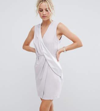 Asos Drape Front Mini Tux Dress