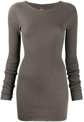 Rick Owens ribbed round neck top