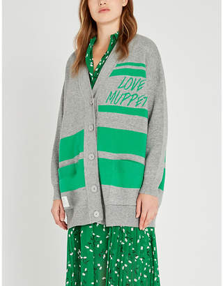 Sandro The Muppet Show x knitted cardigan