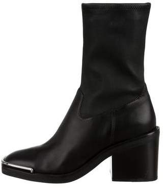 Alexander Wang Leather Mid-Calf Boots