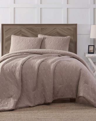 Antik Batik Ocean Washed Cotton Quilted Top Tan Comforter Set