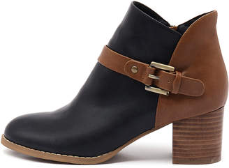 I Love Billy Jaclyn Navy-tan Boots Womens Shoes Casual Ankle Boots