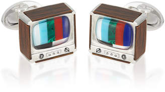 Jan Leslie Retro TV Sterling Silver Cufflinks