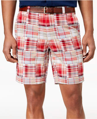 "Club Room Men's 9"" Madras Shorts, Created for Macy's"