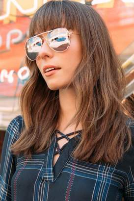 francesca's Accomplice Aviator Sunglasses - Rose/Gold