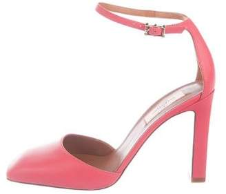 Valentino Leather Ankle-Strap Pumps