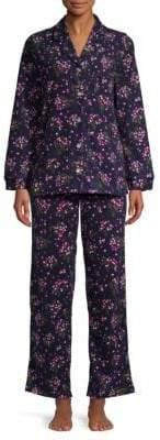 Carole Hochman Two-Piece Floral-Print Pajama Set