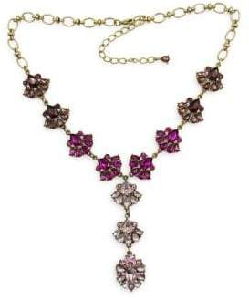 Badgley Mischka Pink Ombre Stone Cluster Y-Necklace