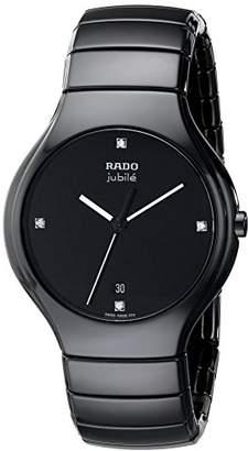 Rado Men's R27653742 True Jubile Analog Display Swiss Quartz Black Watch