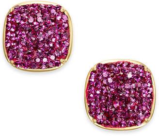 Kate Spade Gold-Tone Pave Square Stud Earrings