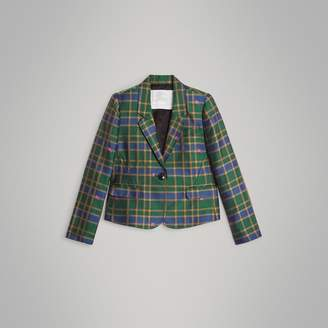 Burberry Childrens Equestrian Knight Check Blazer