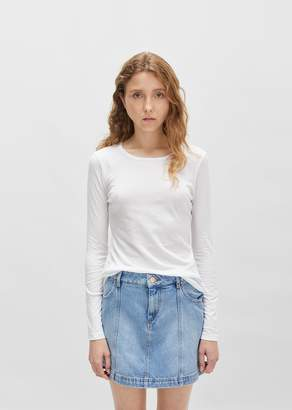 Organic by John Patrick Long Sleeve Shirttail White