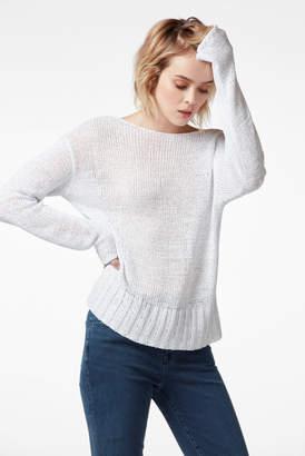 J Brand Seascape Scoopback Sweater In Nero