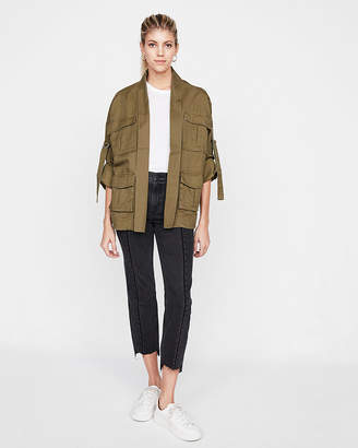 Express Easy Wear Twill Utility Jacket