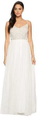 Adrianna Papell Beaded Bridal Dress Women's Dress
