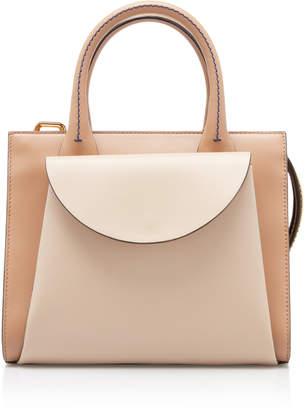 Marni Small Law Leather Top Handle Bag
