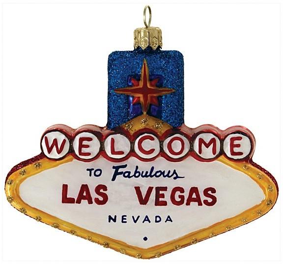"Landmark Creations Las Vegas Sign Ornament, 3.5"""