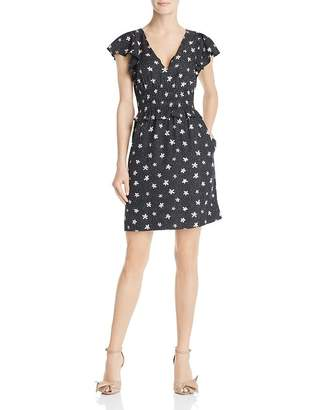 Rebecca Taylor Maui Floral Flutter-Sleeve Dress