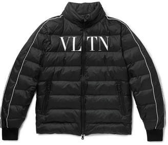 Valentino Logo-Print Quilted Shell Down Jacket