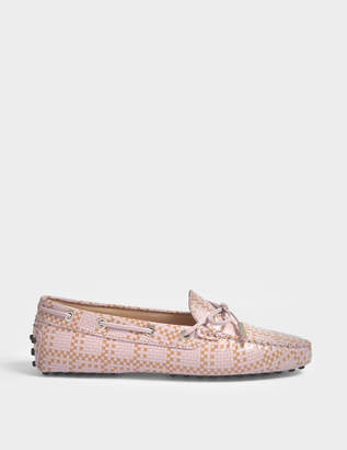 b2786f958c7 Tod s Gommino Scooby Doo Moccasins in Pink Printed Calfskin