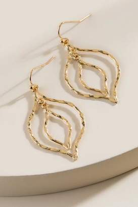 francesca's Lindsay Lantern Drop Earrings - Gold