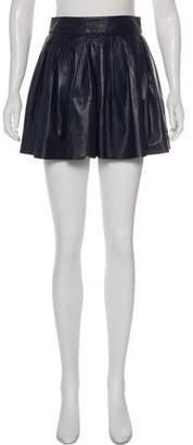 Alice + Olivia Lamb Leather Mini Skirt