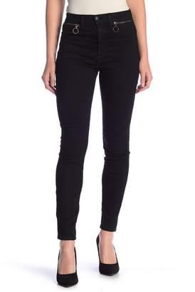 SP Black High Rise Zip Pocket Skinny Jeans