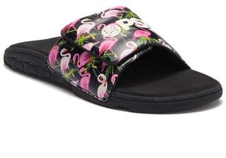 PSD Black Flamingo Slide Sandal