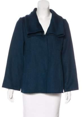 Oscar de la Renta Camel & Wool Casual Jacket