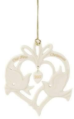 Lenox Love Bird First Christmas Porcelain Ornament