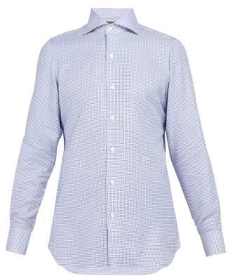 Finamore 1925 - Check Cotton Shirt - Mens - Blue