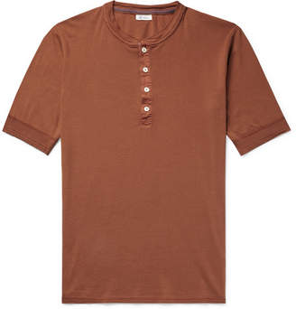 Schiesser Karl Heinz Slim-fit Cotton-jersey Henley T-shirt - Orange
