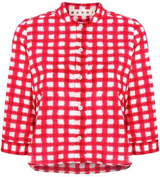 Marni cropped checked shirt