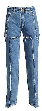 Vetements Women's Deconstructed Frayed Jeans