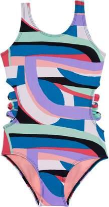 Gossip Girl Flying Rainbow One-Piece Swimsuit
