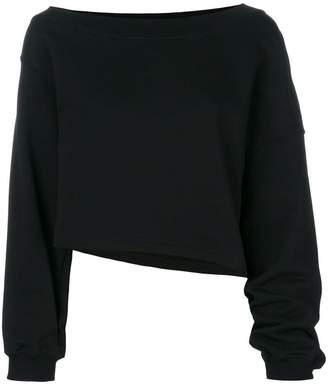 MSGM asymmetric cropped sweatshirt