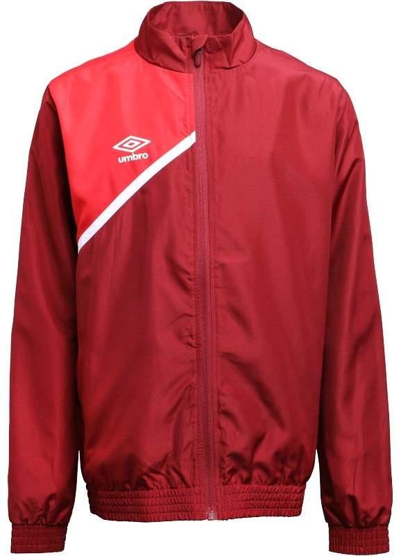 Junior Boys Teamwear Woven Training Jacket Biking Red/Vermillion/White
