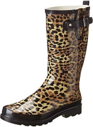 Western Chief Women's Leopard Exotic Rain Boot,Tan