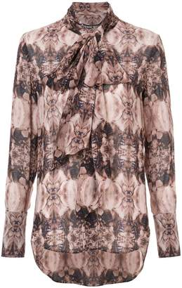 Thomas Wylde long sleeve printed blouse